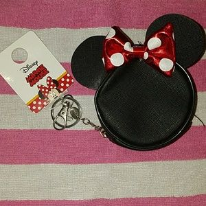 NEW WITH TAGS Minnie Mouse coin purse/keychain